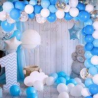113pcs Baby One Party Party Palloncini Ghirlanda 1st Birthday Party Decorations Bambini Sfondo da sposa Decorazione Babyshower Balon Arch Y200903