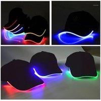 Cool LED enciende las gorras de béisbol que brillan intensamente sombreros ajustables perfectos para la marcha del hip-hop de la fiesta y más venta caliente1