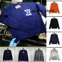 20ss мужские женские дизайнеры свитера пуловер мужские толстовки с длинным рукавом свитер толстовка вышивка трикотаж мужской одежда зимняя одежда 2021