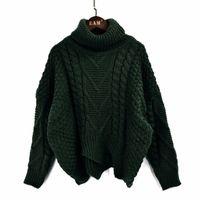 Lanmrem осень осень осень 2020 сплошной цвет горячей продажи водолазки с длинным рукавом вязание пуловер хранить теплый свитер женщины M41003 201102