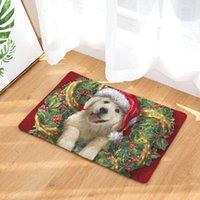 40 * 60см рождественские коврики ванны животные собаки глажут замшевые ковры ковров ванная комната кухня кухонный мат 50x80см туалетные коврики украшения дома DDC3832