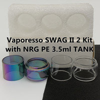 Vaporesso Swag II 2 키트 NRG PE 3.5ml 탱크 정상 전구 튜브 5ml 명확한 무지개 교체 유리 튜브 거품 fatboy