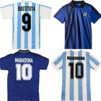 Retro Versione 1978 1986 1994 1996 Argentina Home Soccer Jersey Messi Maradona Caniggia Qualità Batistuta 94 95 Retro Camicia da calcio classica