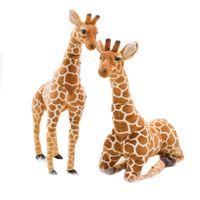 50-120cm multi tamanho quente venda de alta qualidade realista recheado África pastagem animal selvagem animal girafa pelúcia brinquedos crianças presentes lj200914