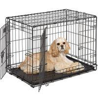 Waco da 30 pollici Pieghevole per metalli in metallo o pet Kennel Kennel con vassoio, pet Kennel Cat Dog Cage Acciaio Cassa Animal Boypen