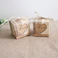 Confezione regalo di carta Kraft Casy Fashion Love Heart Case Imballaggio Vintage Square Souvenir Container Stile europeo 2020 0 18kt F2