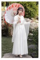 New Fashion Hanfu Female Wide-sleeved Flow Fairy Skirt Waist Style Elegant Dress Chinese Ancient Costume Cosplay Dresses