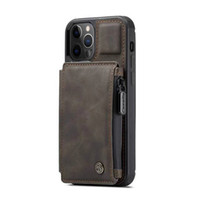 Portafoglio multifunzione in pelle RFID Card Case Case Custodie per iPhone 13 12 11 Pro XR X XS Max 8 7 6S Plus Samsung S21 S20