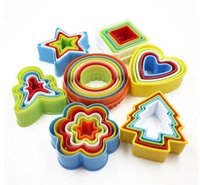 Plastic cookies Mold Cookie Cutter Mold Set multi Tamanho Forma colorido diferente AHF3119 Mold Biscuit Cutters Mousse
