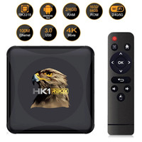 안드로이드 10.0 4G 64GB TV 박스 HK1 RBOX R1 미니 ROCKCHIP RK3318 지원 1080P 4K 듀얼 와이파이 셋톱 박스 미디어 플레이어 세트