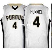 Alter 888 # 4 Purdue Robbie Hummel White Black College Jersey Größe S-4XL oder Benutzerdefinierte Name oder Nummernjersey