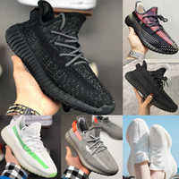 Adidas Yeezy 350 V2 Running shoes Kanye west 350 Homens Mulheres Running Shoes Zebra Black White Sneakers Eur 36-47 sem caixa