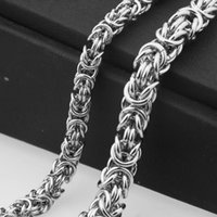 Granny Chic 6 / 8mm Мужские мальчики плоские византийские ожерелье серебряный цвет акция из нержавеющей стали цепи подарок горячей продажи ювелирные изделия1