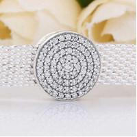 S925 Sterling Silver Bijoux de bricolage Perles de bricolage et de bracé convient au charme de style Pandora pour bracelets Pandora pour bracelet en argent européenCollier