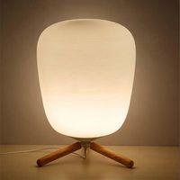 الترا الحديثة مصغرة أزياء متجمد الزجاج عاكس الضوء وأقوس خشبي الملمس الجدول مصباح مصباح مع مصدر ضوء الولايات المتحدة