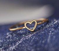 Zierliche Frauen Ring Hohl Herz Ring Für Paar Hochzeitsversprechen Infinity Ewigkeit Liebe Schmuck Boho Anillos Mujer BFF Geschenke Kostenloser Versand