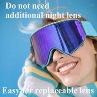 نظارات التزلج 2 في 1 مع العدسة المغناطيسية ذات الاستخدام المزدوج UV400 التزلج على الجليد Skiboard