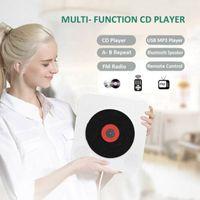 CD player de parede Bluetooth Portable Home Audio Boombox com controle remoto FM Radio Built-in Hifi Speakers USB MP3