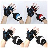 Велоспорт перчатки горный велосипед Спортивные перчатки Половина Finger перчатки Фитнес Supplies дышащий Non скольжению варежки CYZ2918