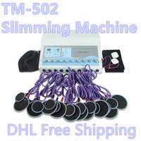 ¡Stock de la máquina del estimulador en los Estados Unidos! Máquina para adelgazar Músculo Electrónico Firma de onda rusa Slim Body Shaper Tens Ems Unidades Equipo de dispositivo de electroterapia