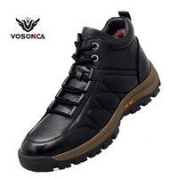 Vosonca homens sapatos genuínos sapatos de couro homens sapatos casuais high-top botas de couro de alta qualidade vaca couro Botas quentes LJ201026