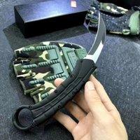 Karambit auto tático faca de garra 440c fio desenho lâmina zn-al liga liga ferramenta exterior edc com bainha de nylon