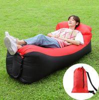 تصميم جديد سريع نفخ المتسكع أرجوحة الهواء أريكة كسول كيس النوم التخييم شاطئ السرير أرجوحة الهواء لشاطئ السفر التخييم النزهات