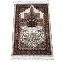 Islamisches Gebet Teppich Tragbare Geflochtene Matte Quasten Baumwollanbetung Teppichdecke Reise Taschenppiche Muslimische Gebet Teppiche Muslimische Decke DHC5778