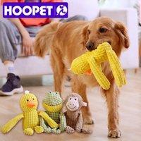 Hoopet animal de estimação brinquedo de pelúcia mastigar animais de som forma para cão grande treinamento interativo brinquedo cão gato lj201125