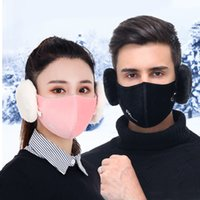 6 colors 2 in 1 Unisex Mouth Muffle Fashion Earmuffs Masks d...