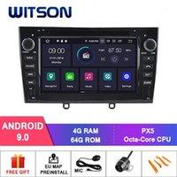 Joueur Witson Android 9.0 Car DVD pour 408 2010-2011 SAT NAV GPS Navigation Auto Stéréo + DVR / WiFi + DSP + DAB + OBD + TPMS1