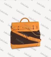 M44731 M44997 في الهواء الطلق حقيبة جلد البقر حقيقي الكسوف قماش مصمم الرجال سفر الأمتعة حقيبة محفظة حمل الكتف الأشرطة حقيبة