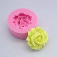 Цветочный узор Круглые силиконовые формы DIY Mini Rose Chocolate кухонные аксессуары инструмент мыло плесень конфеты выпечки торт 0 65FS G2