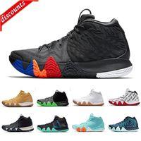 Üst Güz Irving 4 Basketbol Ayakkabı Ucuz Satış Kyrie Sneakers Spor Erkek Ayakkabı Kurt Gri Takım Kırmızı Eğitmenler Basketbol Ayakkabı Boyutu 40-46
