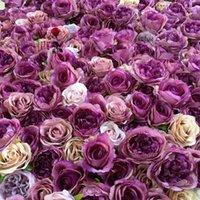 SPR شحن مجاني-10 قطعة / الوحدة الزفاف الاصطناعي زهرة جدار خلفية ترتيب الزهور الطريق الرصاص الزهور الزينة 1
