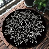 National Style Round Mandala Carpet Rugs Room Decor Play Area Rug Bedside Doormat Floor Chair Mat Large Carpets Living Room 200925
