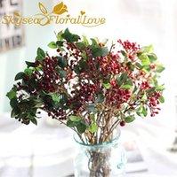 Yapay Çiçek Berry Meyve DIY Düğün Çiçekleri Ev Partisi Düğün Dekor Şeker Kutusu Hediye DIY Sahte Çiçek Berry