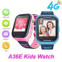 A36e 4g crianças inteligente relógio gps smartwatch vídeo chamada telefone relógio impermeável smartwatch criança relógio gps pk q50 q90 y95 presente estudante