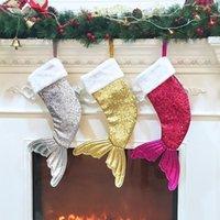 Lentejuelas lentejuelas cola medias regalo envolver niños caramelo navidad árbol ornamento casa fiesta decoraciones de gran tamaño regalos de navidad bolsa al por mayor