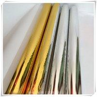 Rotolo di foglio di foglio di foglio biadesivo artigianale foglio oro argento laminatoio di carta artigianale processo decorazione fai da te vtky2291