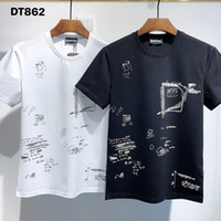 DSQ PHANTOM TURTLE 2021SS New Mens Designer T shirt Paris fashion Tshirts Summer DSQ Pattern T-shirt Male Top Quality 100% Cotton Top 1192