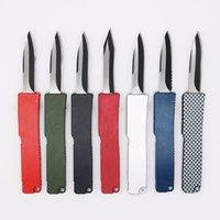 9 Modelli Mini Key Fibbia Pocket Knife Alluminio Doppia Azione Tattica automatica Auto Pieghevole Auto Pieghevole EDC Coltello da campeggio coltello tascabile 05356