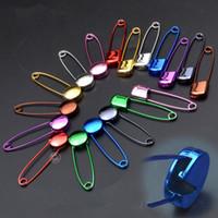 50ピース混合カラーベビーセーフティピン円形ヘッド/スクエアヘッドステンレス鋼の針安全ピンブローチミシン編み物