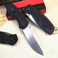 Promotion 1670 Couteau à lame pliante D2 DROP POINT POINT PIERRE LAMES DELANGE T6061 Poignée en aluminium avec boîte de vente au détail originale