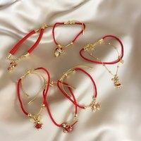 2020 Handmade Rhinestone Zodiac Mouse Cow Adjustable Bracelet for Women Girls Birthday Gifts Gold Chain Fashion Bangles Jewelry