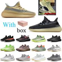 2020 Nova Qualidade Alta Qualidade Kanye West V2 Abez Cinder Cauda Luz Correndo Tênis Terra Deserto Sábio Zyon 3M Estático Reflexivo Israfil Homens Sport Shoes