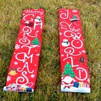 الجملة 1 زوج عيد الميلاد couplet بانر الرئيسية باب نافذة مهرجان الديكور ترحيب لافتة couplets منزل شنقا العلم. الشحن مجانا