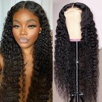 Ishow solta profundo curly 5 * 5 transparente laço fecho peruca brasileira cabelo humano perucas corporal onda de água rendas peruca peruana cabelo peruano cabelo humano lace dianteira peruca