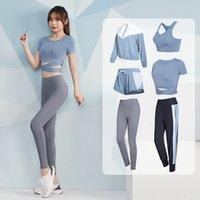 Vansydical 2-6 кусочков йога набор женщин сжатый бегущий фитнес одежда тренажерный зал одежда спортивный костюм тренировки трексуита для женщин Y1225