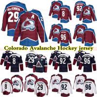 Colorado Avalanche Formalar 29 Nathan Mackinnon 8 Cale Makar 92 Gabriel Landeskog 96 Mikko Rantanen Hokey Jersey